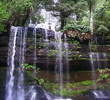 Russell Falls, Mt Field National Park, Tasmania by Marilyn Harris