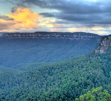 Dawn - Blue Mountains World Heritage Area- The HDR Experience  by Philip Johnson