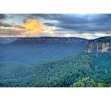 Dawn - Blue Mountains World Heritage Area- The HDR Experience  Photographic Print