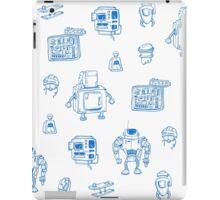 Blue robots iPad Case/Skin