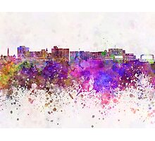 Duluth skyline in watercolor background Photographic Print