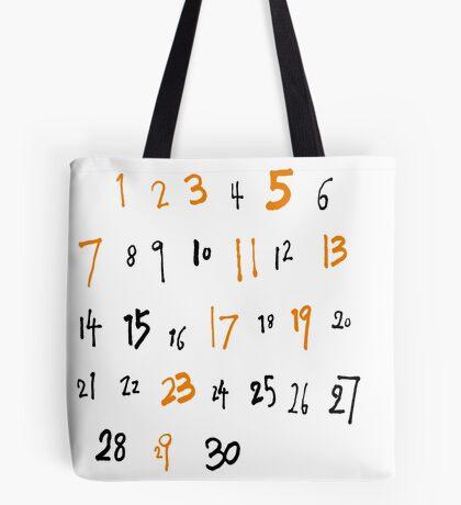 prime numbers Tote Bag