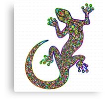 Psychedelic Lizard Gecko  Canvas Print
