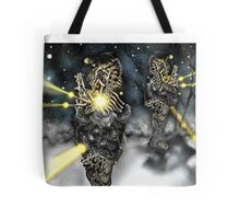Electronic Rabbit Fighters [Digital Science-Fiction Drawing] Tote Bag