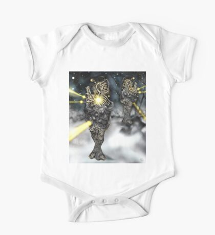 Electronic Rabbit Fighters [Digital Science-Fiction Drawing] One Piece - Short Sleeve