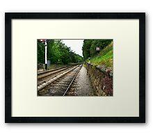 Down the Tracks - Goathland,North Yorkshire Framed Print