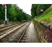 Down the Tracks - Goathland,North Yorkshire Photographic Print