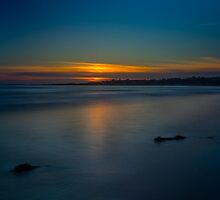 Mavillette Beach Sunset by mlphoto