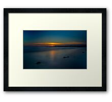 Mavillette Beach Sunset Framed Print