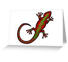 Aboriginal Gecko Lizard Greeting Card