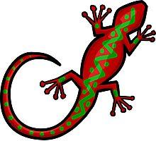 Aboriginal Gecko Lizard Photographic Print