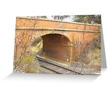 Bridge over train track, North Castlemaine Greeting Card