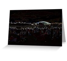 Abduction Afterglow Greeting Card