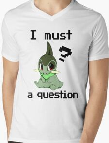 I Must Axew a Question Mens V-Neck T-Shirt