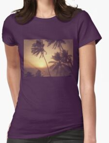 Sand, Beach, Sunset Womens Fitted T-Shirt