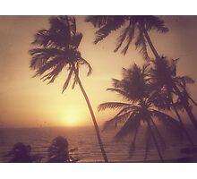 Sand, Beach, Sunset Photographic Print