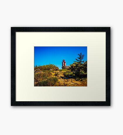 Point Prim Lighthouse Framed Print