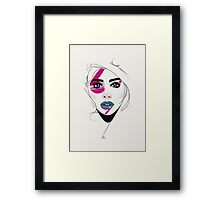 Painted. Framed Print