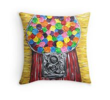 """Bubblegum Machine"" Throw Pillow"
