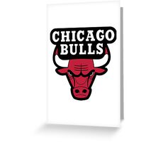 Chicago Bulls Logo Greeting Card