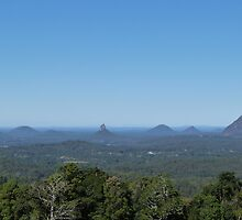 The famous Glass House Mountains, from Blackall Range. Que. Australia. by Rita Blom
