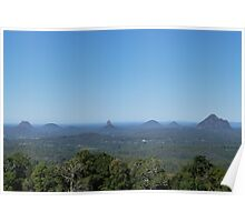 The famous Glass House Mountains, from Blackall Range. Que. Australia. Poster