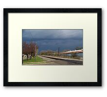Stormy Saturday Framed Print