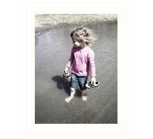 Little Girl In The Water Art Print
