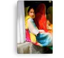 Children of Heaven Exhibition - Blue Steel Canvas Print