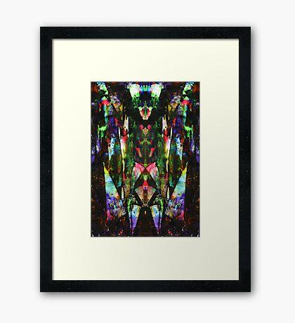 Abstract Mindmirror Acrylic Painting Framed Print