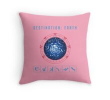 Destination Earth chevron symbols Throw Pillow