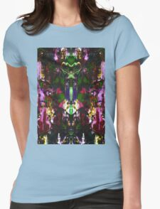 Abstract Mindmirror Acrylic Painting Womens Fitted T-Shirt