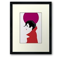 Red Coat. Framed Print