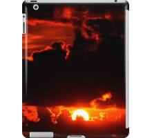dark moody red sunset sky iPad Case/Skin