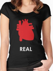 Reality - Black Women's Fitted Scoop T-Shirt