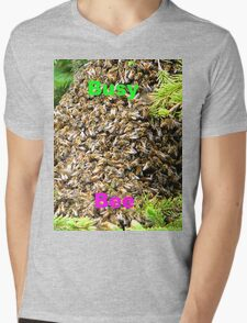 Busy Bee,Tee Mens V-Neck T-Shirt