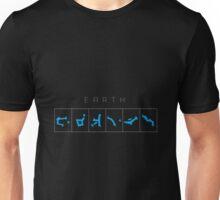 Earth chevron destination symbols Unisex T-Shirt