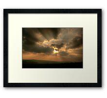 Sky over Derbyshire Framed Print