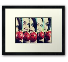If Apples had Feelings.... Framed Print