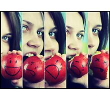 If Apples had Feelings.... Photographic Print