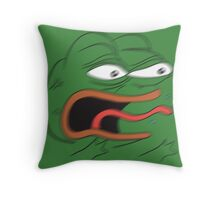 REEEEEEE - Angry Pepe the Frog (blur) Throw Pillow