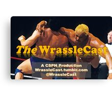 The WrassleCast logo Canvas Print