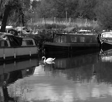Boats on the Nene, Kinewell.  by Claire Aberlé