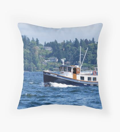 """The Tugboat """"Drifter"""" Throw Pillow"""