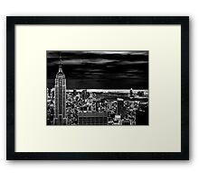 A Darkened New York Framed Print
