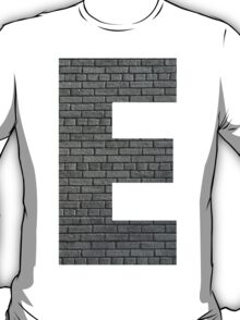 The Letter E - Brick Wall T-Shirt