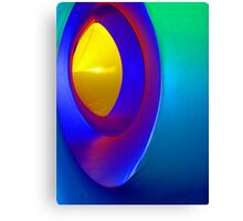 Inside a Luminarium of Turquoise and Yellow Canvas Print