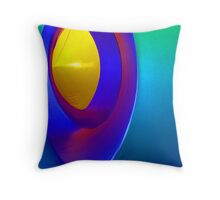 Inside a Luminarium of Turquoise and Yellow Throw Pillow