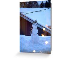 tipsy snowman Greeting Card