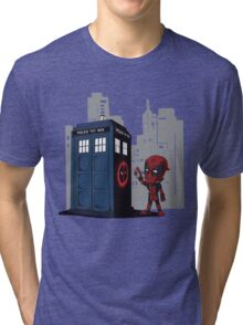 Defacing the Phonebox Tri-blend T-Shirt